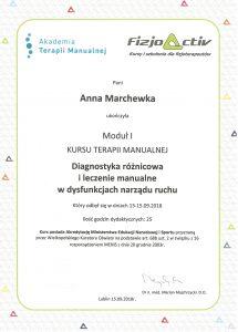 dyplom terapia moduł I